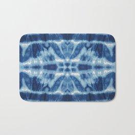 Tie Dye Blues Twos Bath Mat