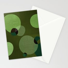 """Retro Green Super Dots"" Stationery Cards"