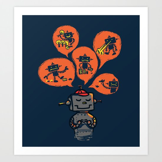 When I grow up - an evil robot dream Art Print