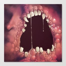 the wall of flesh and teeth Canvas Print