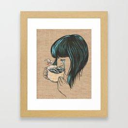 Her Tears Became The Sea Framed Art Print