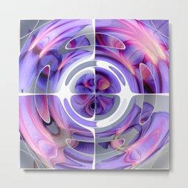 Abstract Morning Glory Fish Eye Collage Metal Print