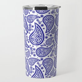 Paisley (Navy Blue & White Pattern) Travel Mug