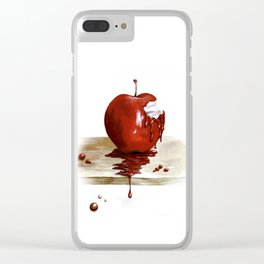 RED. Manzana Sangrienta (Caramelo Protector) Clear iPhone Case