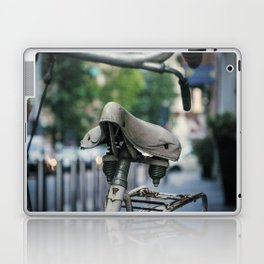 Old white bicycle in a little alley in the center of Milan Laptop & iPad Skin