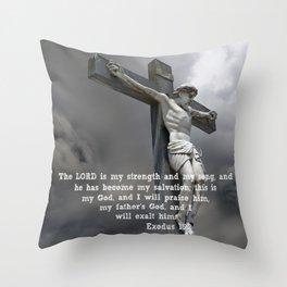 Exodus 15:2 Throw Pillow