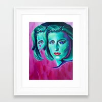 scully Framed Art Prints featuring Scully by ZEKE