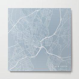 New Haven Map, USA - Slate Metal Print