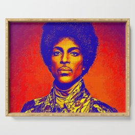 A digitally drawing of Prince (colour) Serving Tray