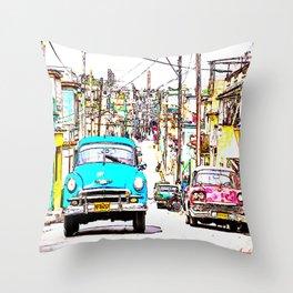 Cuba , calle de La Habana  ( Cuba , Havana street ) Throw Pillow