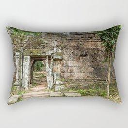 Angkor Thom Palace Wall, Siem Reap, Cambodia Rectangular Pillow