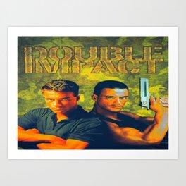Twin Impact Art Print