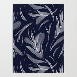 Digital floral Poster