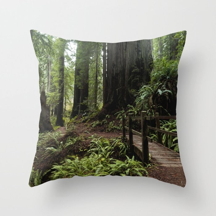 Redwood Roaming - California Wanderlust Throw Pillow