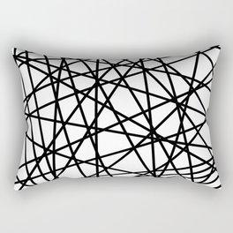 Lazer Dance Black on White Rectangular Pillow