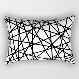 Lazer Dance Black on White Rectangular Pillow
