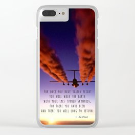 Turned Skywards Clear iPhone Case