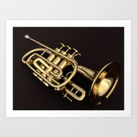 trumpet Art Prints featuring trumpet by Ancello