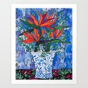 Birds of Paradise in Blue After Matisse by larameintjes