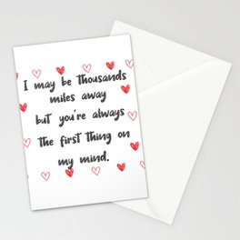 Long Distance Love Relationship Stationery Cards