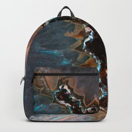Earth treasures - Blue and orange agate Backpack