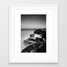 Black Rock Framed Art Print