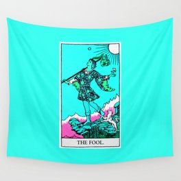 0. The Fool- Neon Dreams Tarot Wall Tapestry
