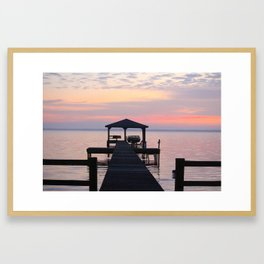 Last Sunset Of 2018 Framed Art Print