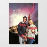 ski Canvas Prints featuring Ski Stars by Peter Campbell