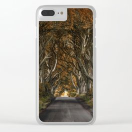 Dark Hedges alley in autumn Clear iPhone Case