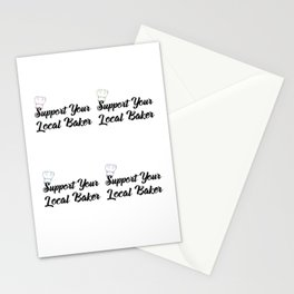 Support Your Local Baker Pop Stationery Cards
