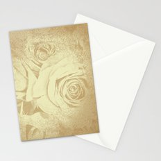 Roses in vintage style with texture Stationery Cards
