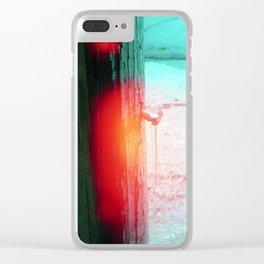 ice, burn Clear iPhone Case