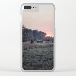Rural Sunset Clear iPhone Case