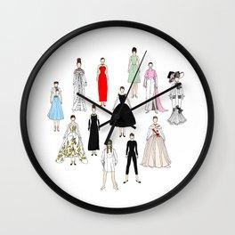 Audrey Fashion Whimsical Layout Wall Clock