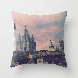 Carnivals and Colors and Castles and Churches Throw Pillow