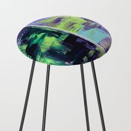 Violet & Green On A Rainy Day Counter Stool
