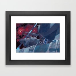 The Ringworld Engineers: Walking the Edge of Existence Framed Art Print