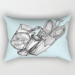 Bartender in turquoise Rectangular Pillow