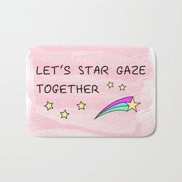Let's star gaze Bath Mat