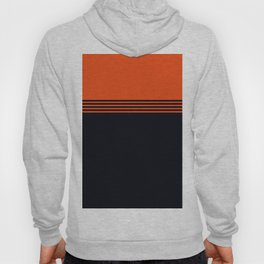 70s Orange Retro Striped Pattern Hoody