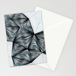 Geometric tringular net Stationery Cards