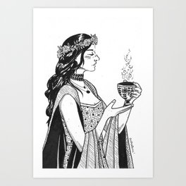 circe, witch of aeaea Art Print