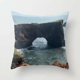 Dyrhólaey, Iceland Throw Pillow