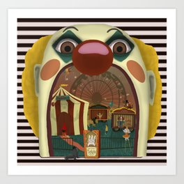 Creepy Circus Art Print