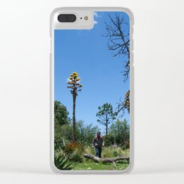 hiking men Clear iPhone Case