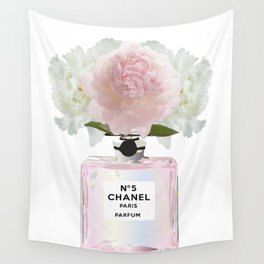 Pink perfume floral Wall Tapestry