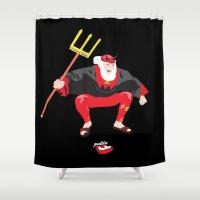 devil Shower Curtains featuring Tour Devil by Pedlin