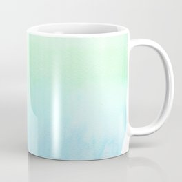 Hand painted turquoise teal blue watercolor ombre brushstrokes Coffee Mug