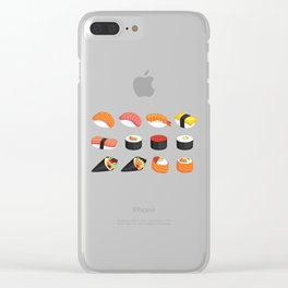 I Love Sushi Clear iPhone Case